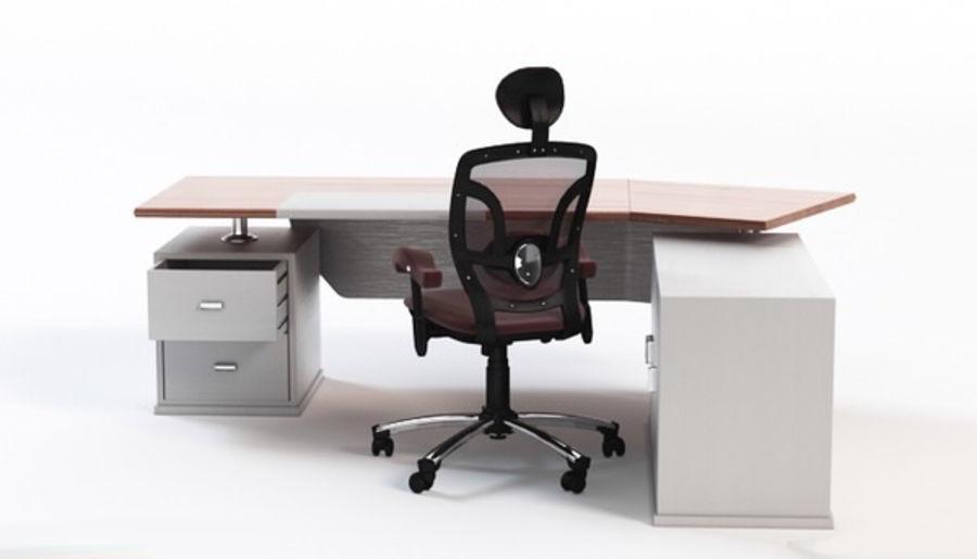 Bureau et chaise royalty-free 3d model - Preview no. 2