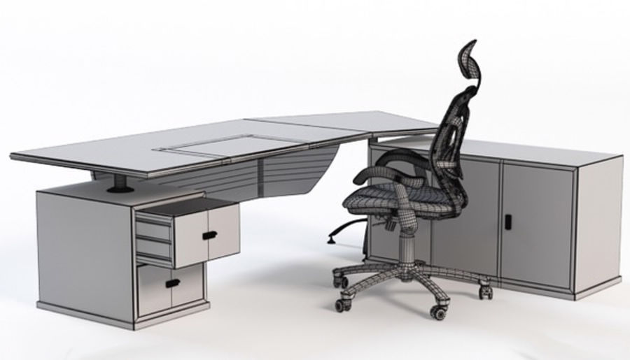 Bureau et chaise royalty-free 3d model - Preview no. 4