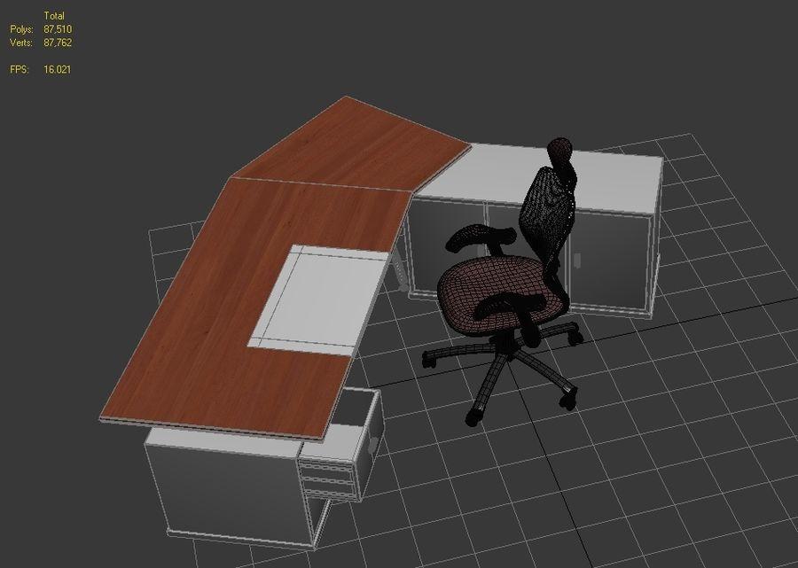 Bureau et chaise royalty-free 3d model - Preview no. 5