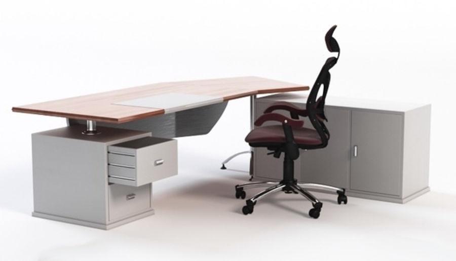 Bureau et chaise royalty-free 3d model - Preview no. 1
