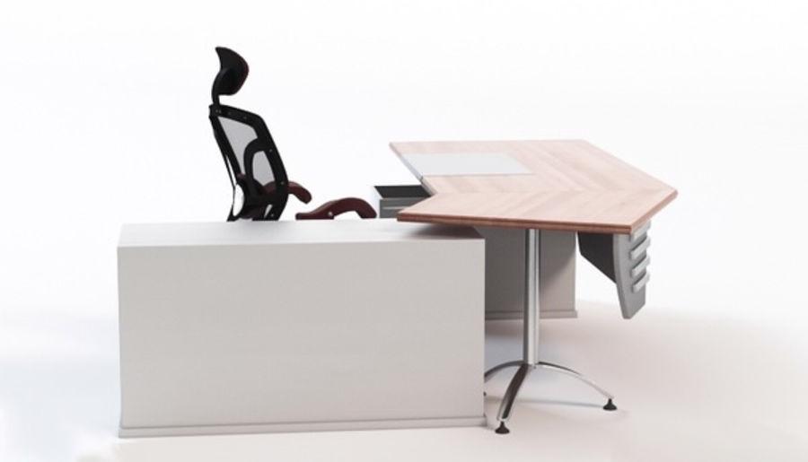 Bureau et chaise royalty-free 3d model - Preview no. 3