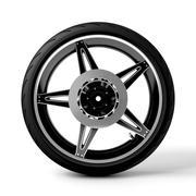 摩托车轮胎 3d model