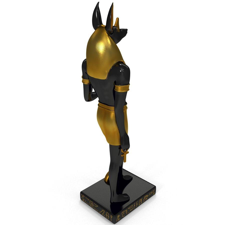 Estatua de anubis royalty-free modelo 3d - Preview no. 7