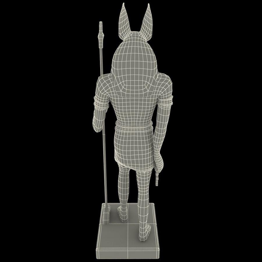 Estatua de anubis royalty-free modelo 3d - Preview no. 18
