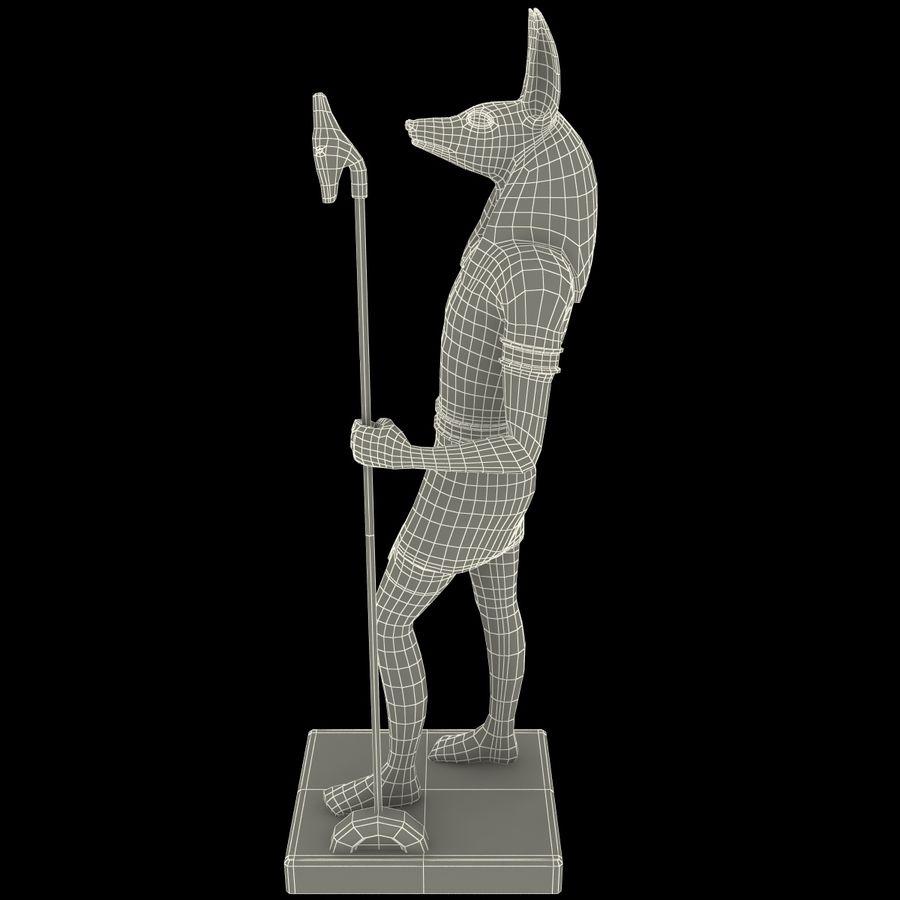 Estatua de anubis royalty-free modelo 3d - Preview no. 16