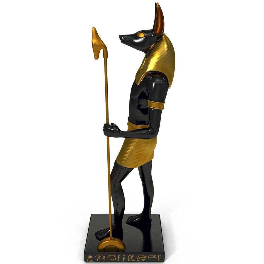 Estatua de anubis royalty-free modelo 3d - Preview no. 3