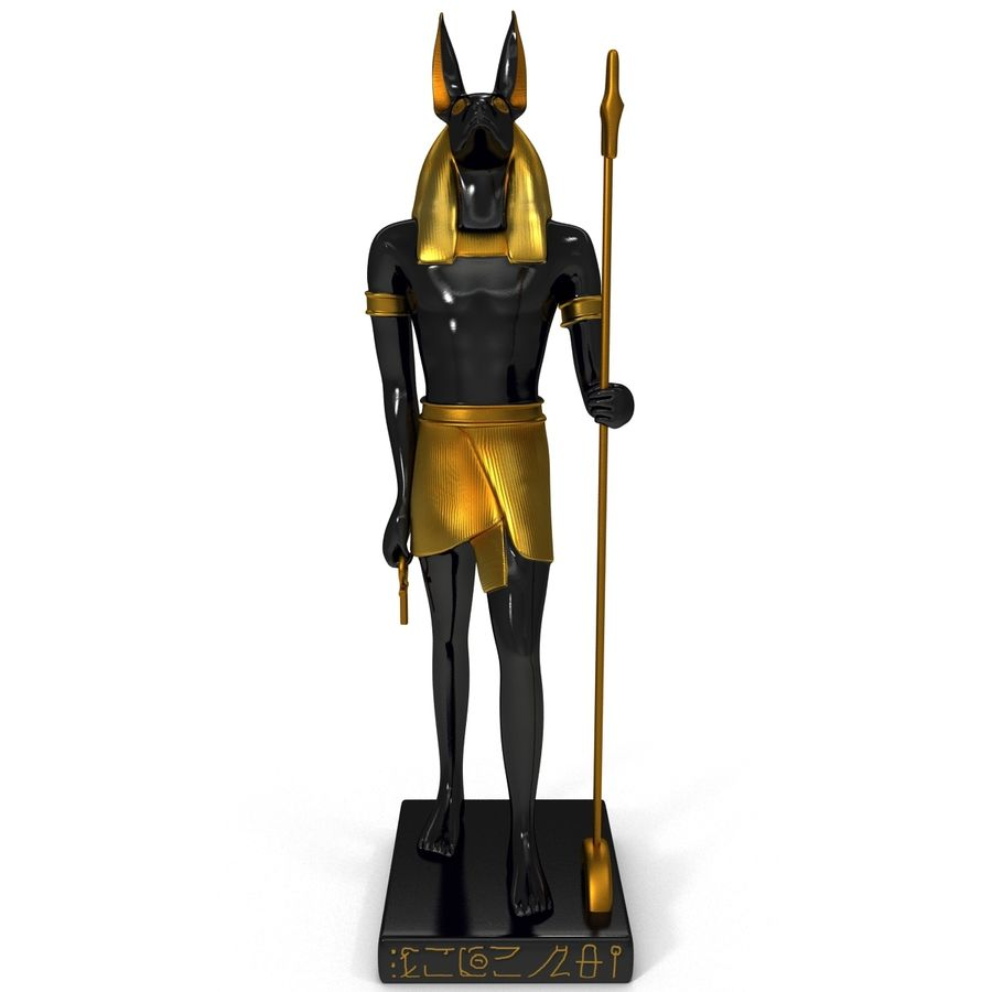 Estatua de anubis royalty-free modelo 3d - Preview no. 10