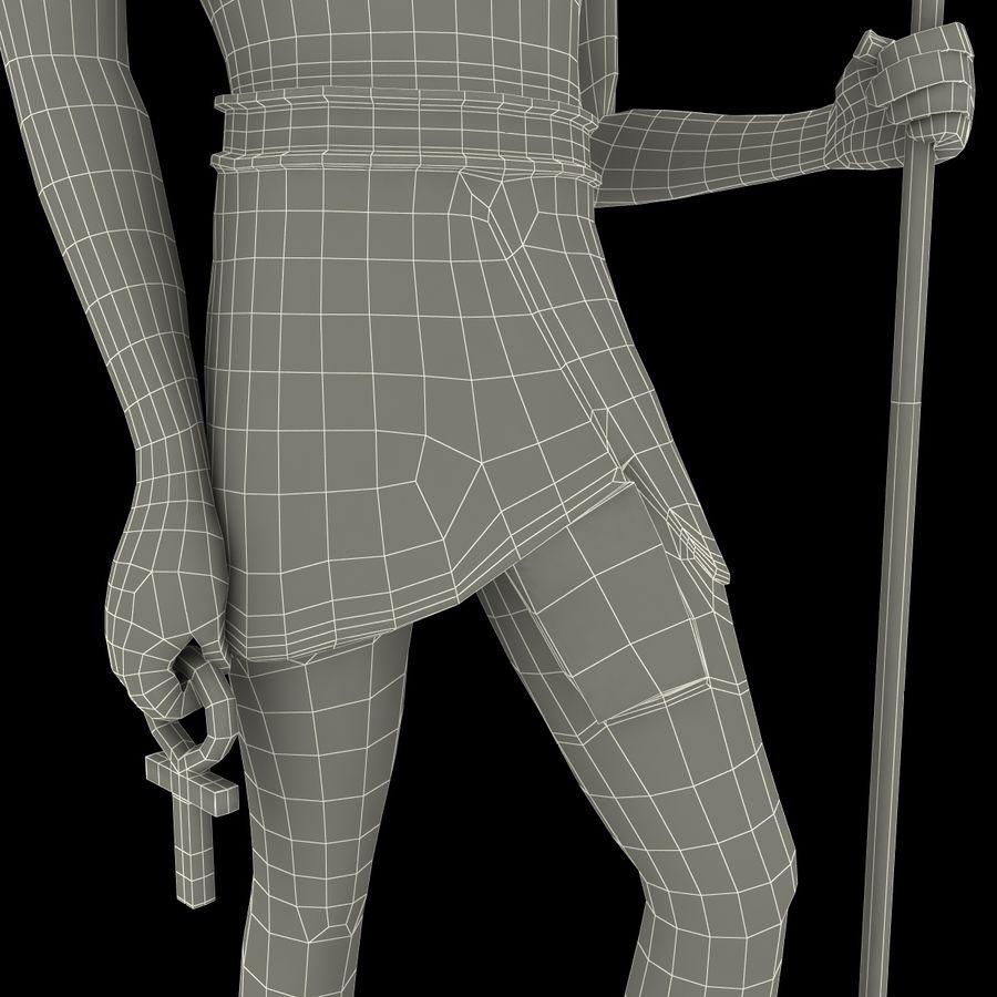 Estatua de anubis royalty-free modelo 3d - Preview no. 26