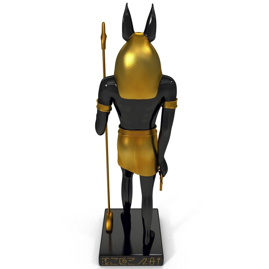 Estatua de anubis royalty-free modelo 3d - Preview no. 6