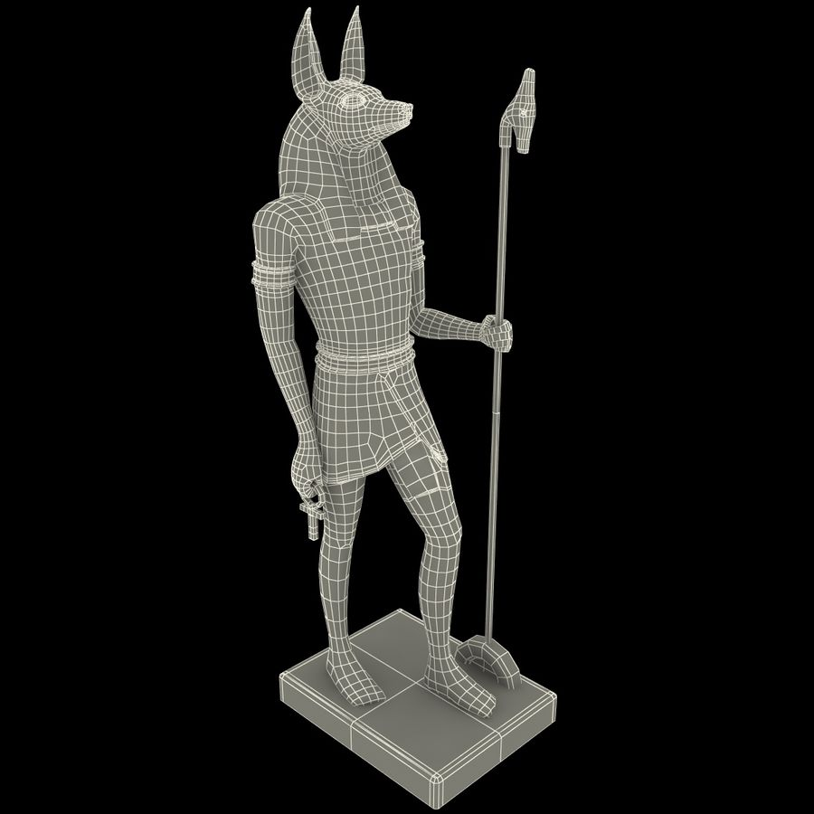 Estatua de anubis royalty-free modelo 3d - Preview no. 21