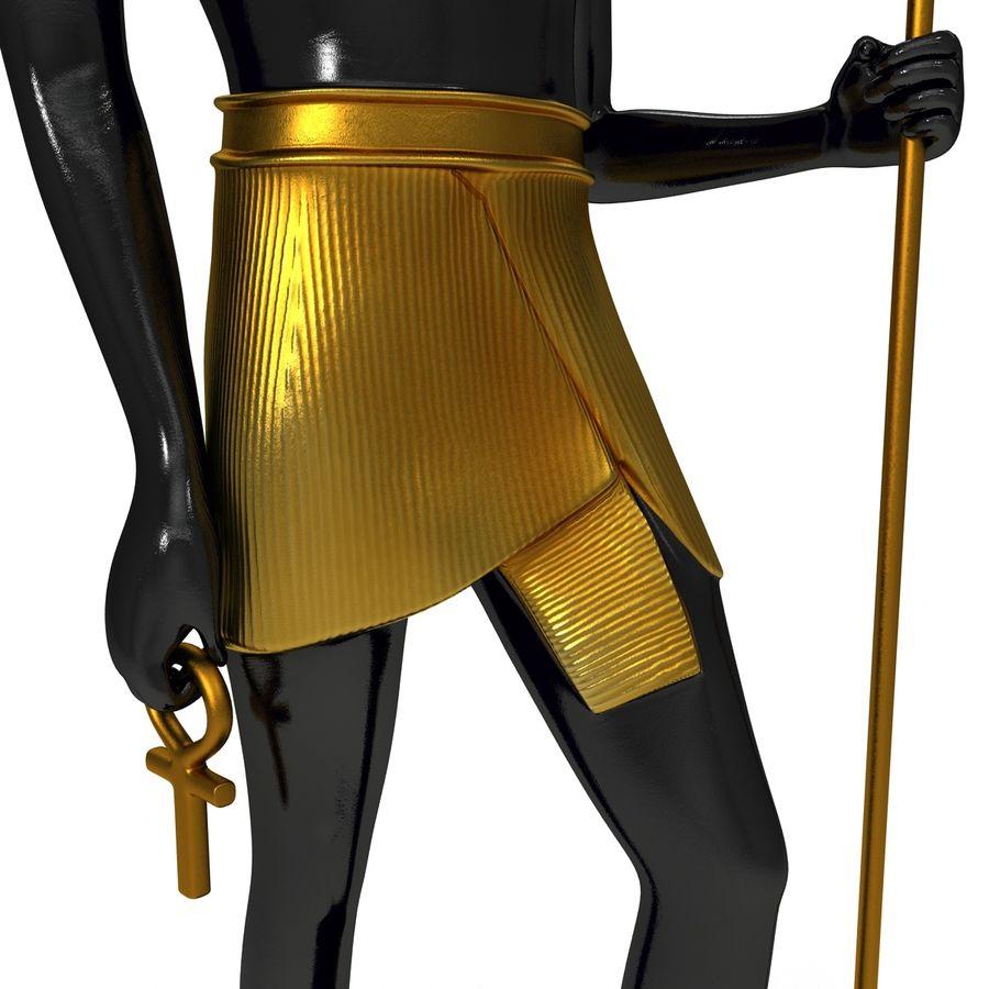 Estatua de anubis royalty-free modelo 3d - Preview no. 14