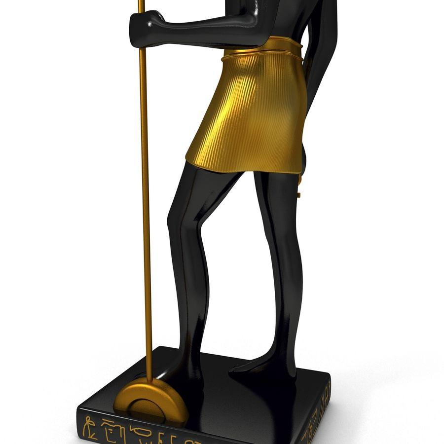 Estatua de anubis royalty-free modelo 3d - Preview no. 12
