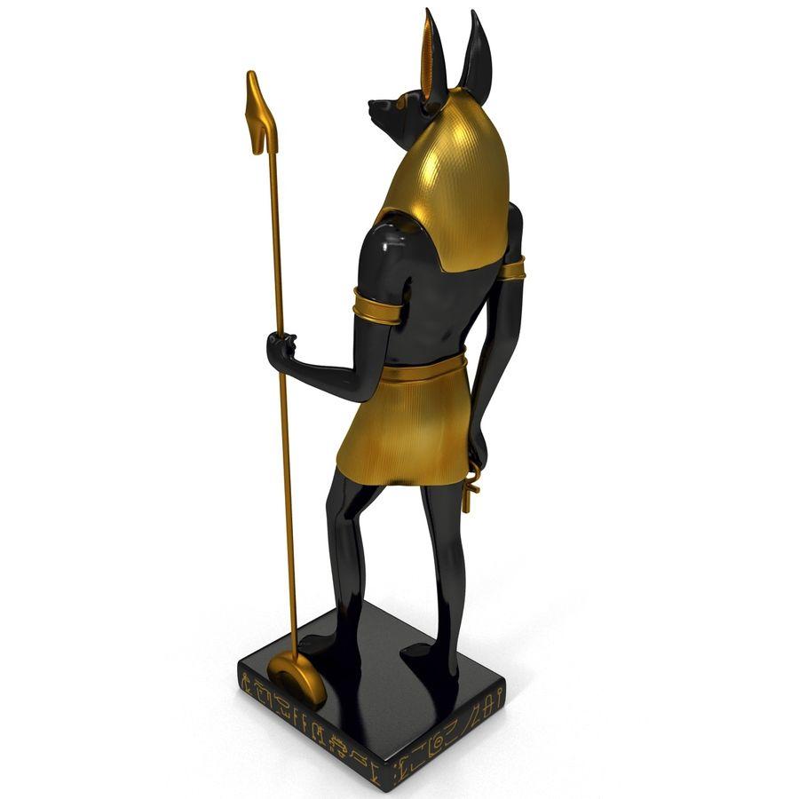 Estatua de anubis royalty-free modelo 3d - Preview no. 5