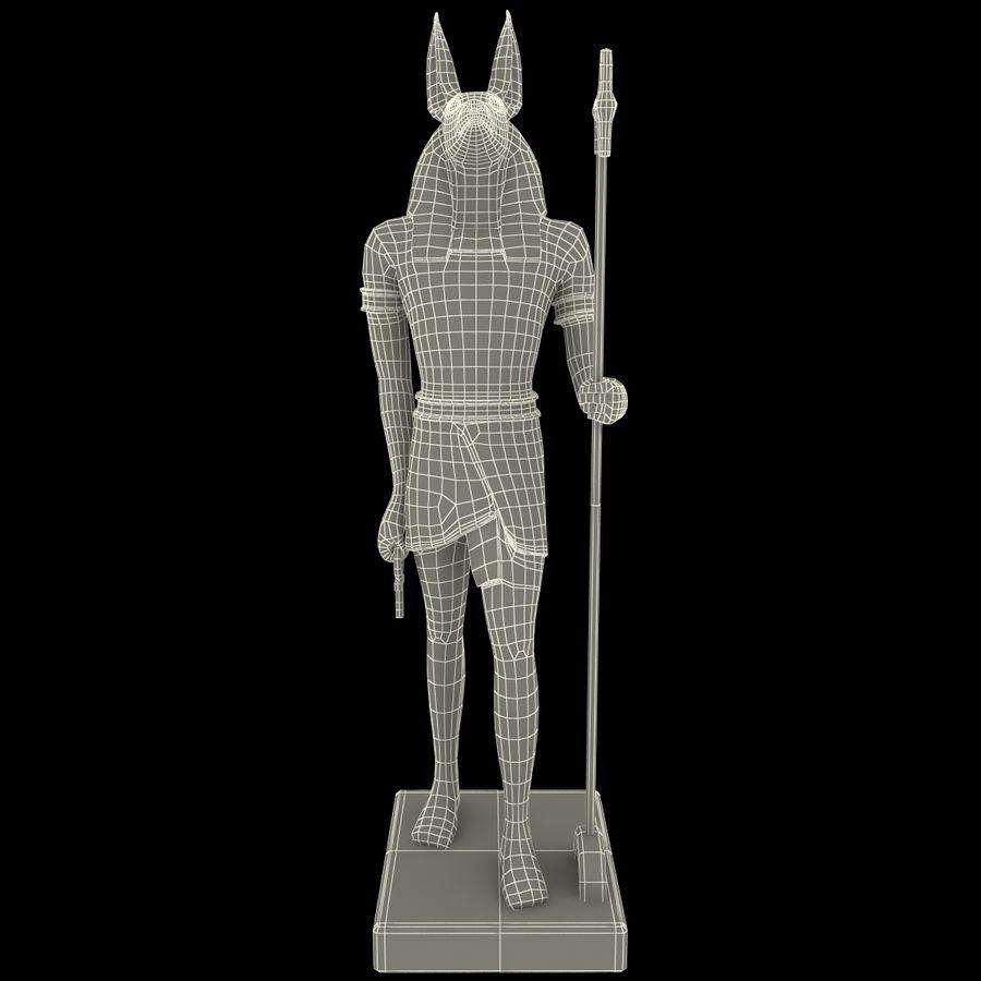Estatua de anubis royalty-free modelo 3d - Preview no. 22