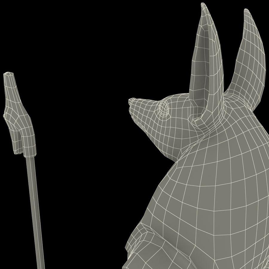 Estatua de anubis royalty-free modelo 3d - Preview no. 25
