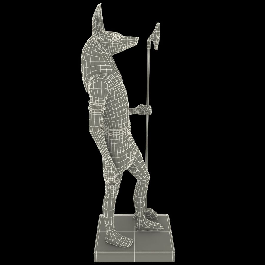 Estatua de anubis royalty-free modelo 3d - Preview no. 20