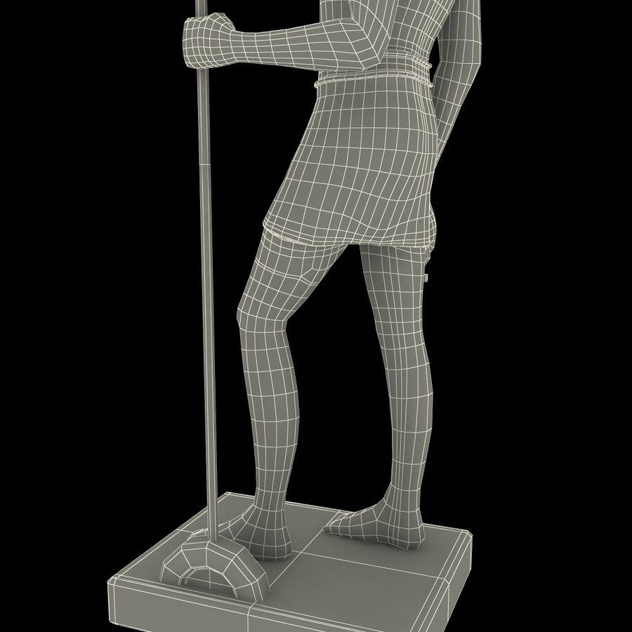 Estatua de anubis royalty-free modelo 3d - Preview no. 24