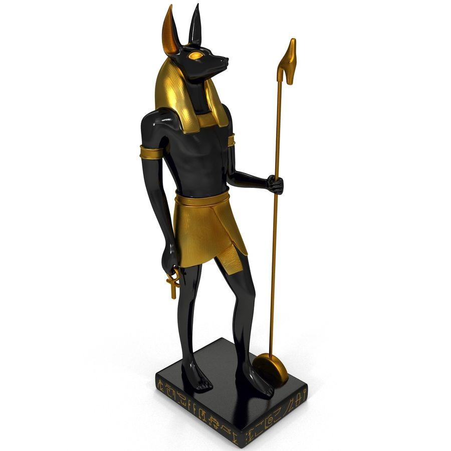 Estatua de anubis royalty-free modelo 3d - Preview no. 9