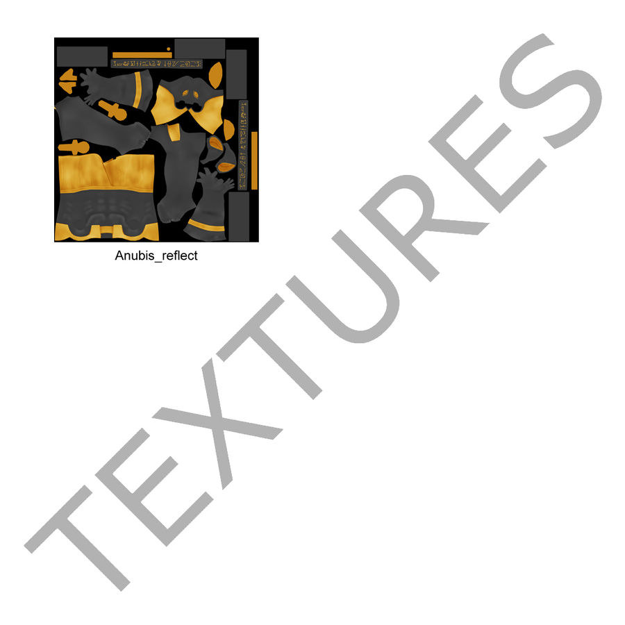 Estatua de anubis royalty-free modelo 3d - Preview no. 32
