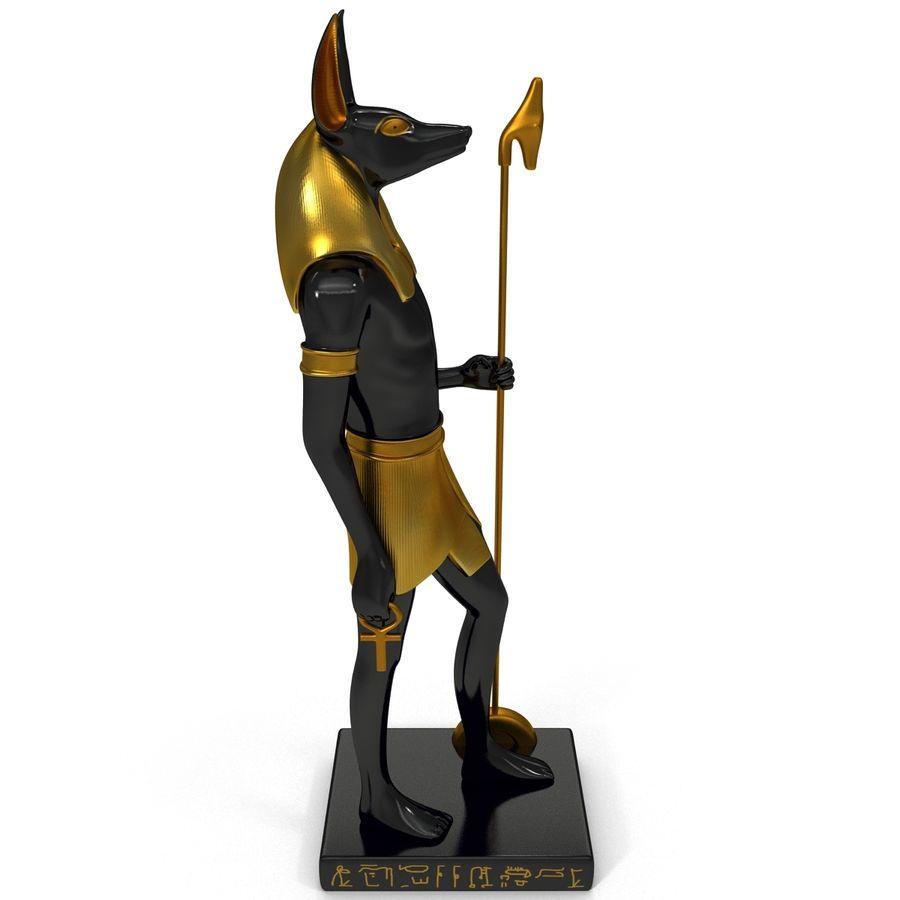 Estatua de anubis royalty-free modelo 3d - Preview no. 8