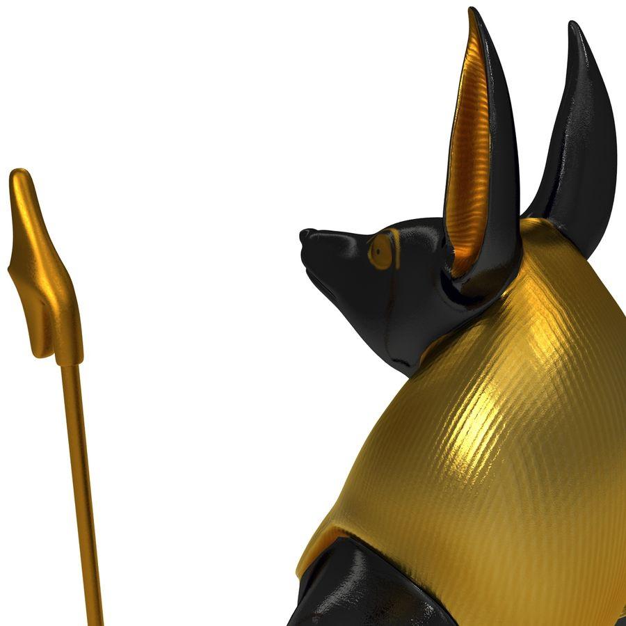 Estatua de anubis royalty-free modelo 3d - Preview no. 13