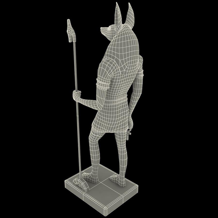 Estatua de anubis royalty-free modelo 3d - Preview no. 17