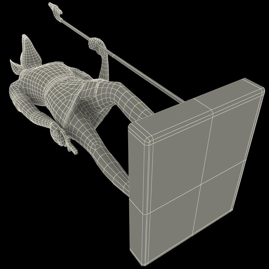 Estatua de anubis royalty-free modelo 3d - Preview no. 27