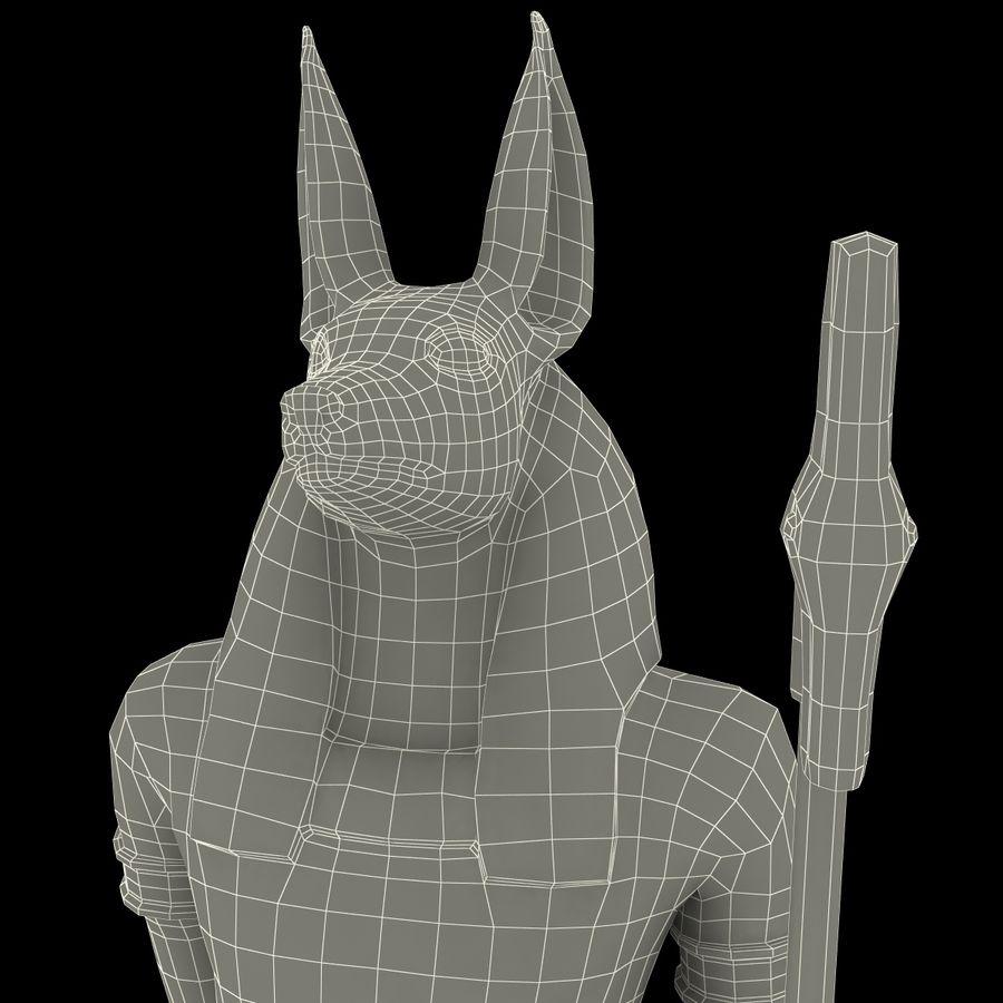 Estatua de anubis royalty-free modelo 3d - Preview no. 23
