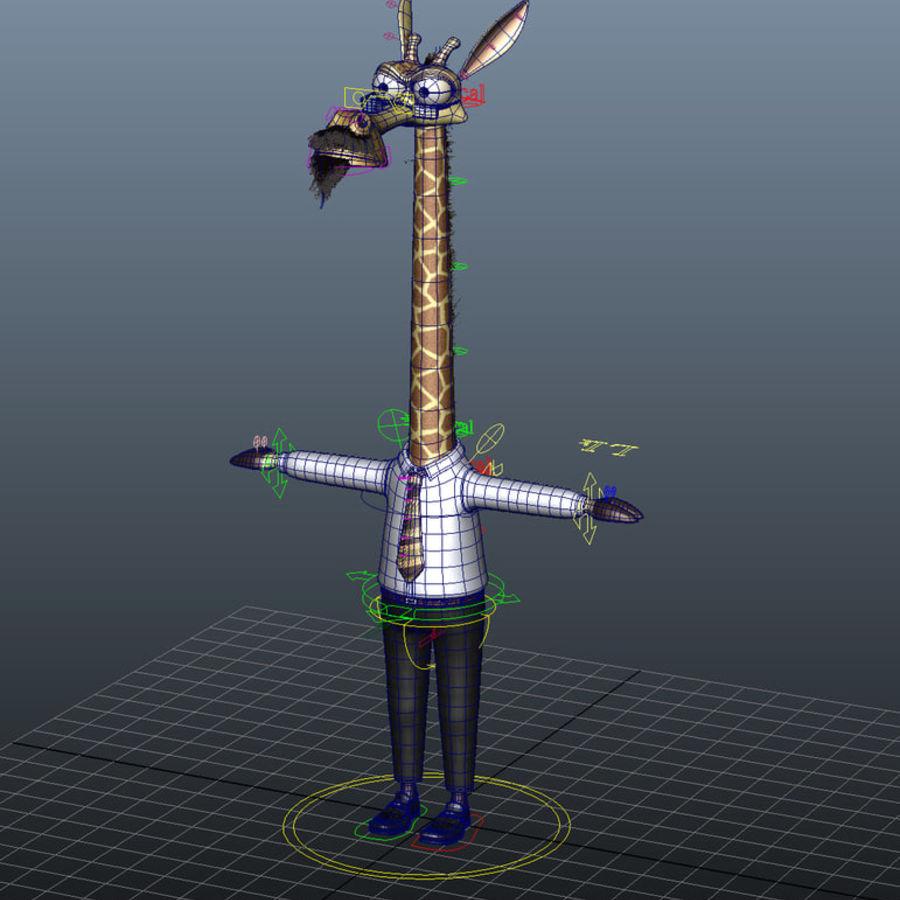 玛雅人卡通人物长颈鹿 royalty-free 3d model - Preview no. 13
