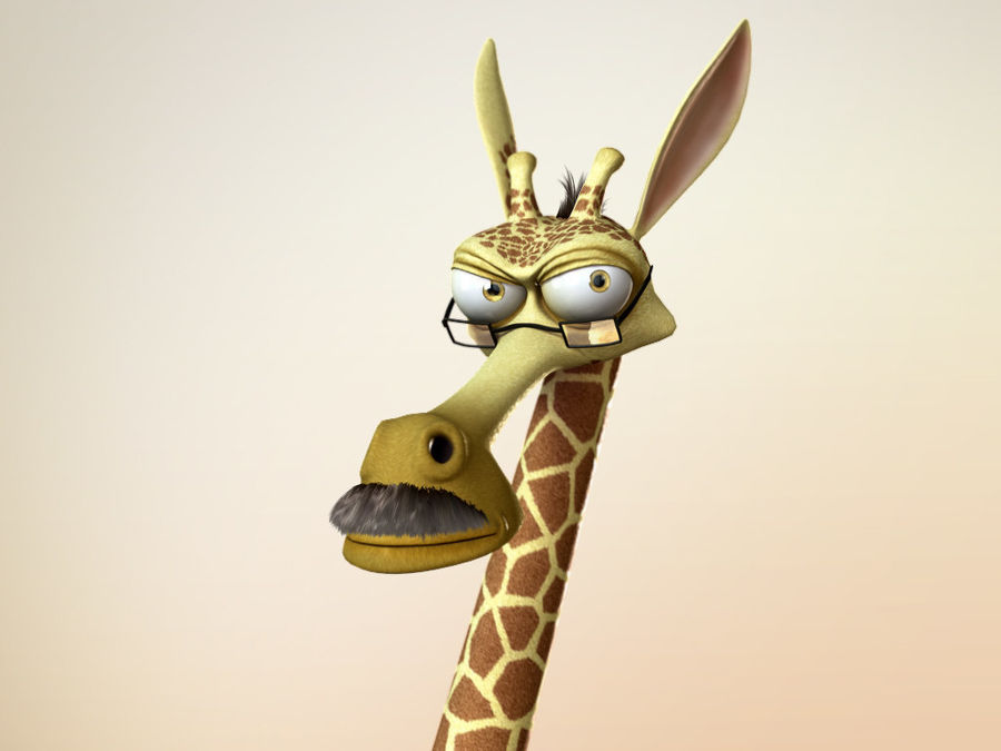 Maya Cartoon Character Giraffe royalty-free 3d model - Preview no. 7