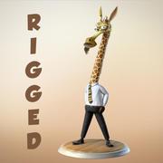 Maya Cartoon Character Giraffe 3d model