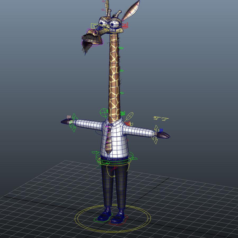 Maya Cartoon Character Giraffe royalty-free 3d model - Preview no. 13