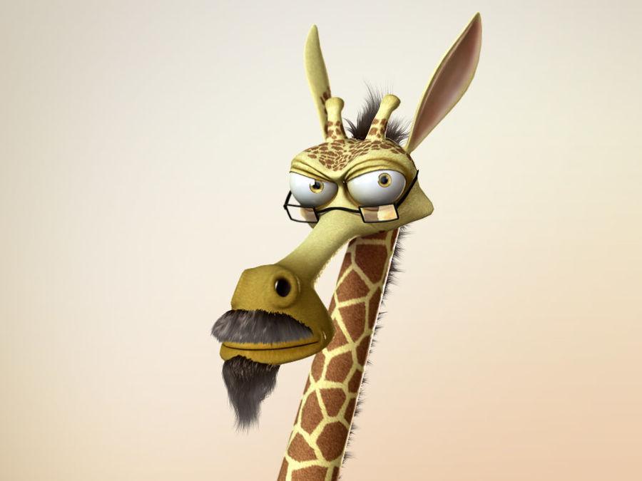 Maya Cartoon Character Giraffe royalty-free 3d model - Preview no. 4