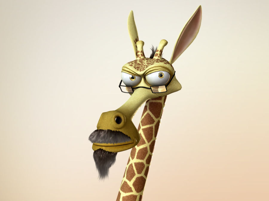Maya Cartoon Character Giraffe royalty-free 3d model - Preview no. 6