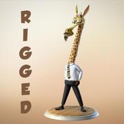 玛雅人卡通人物长颈鹿 3d model
