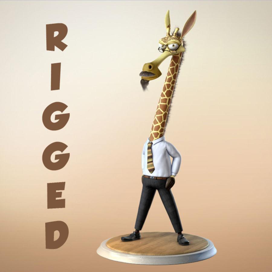 玛雅人卡通人物长颈鹿 royalty-free 3d model - Preview no. 1