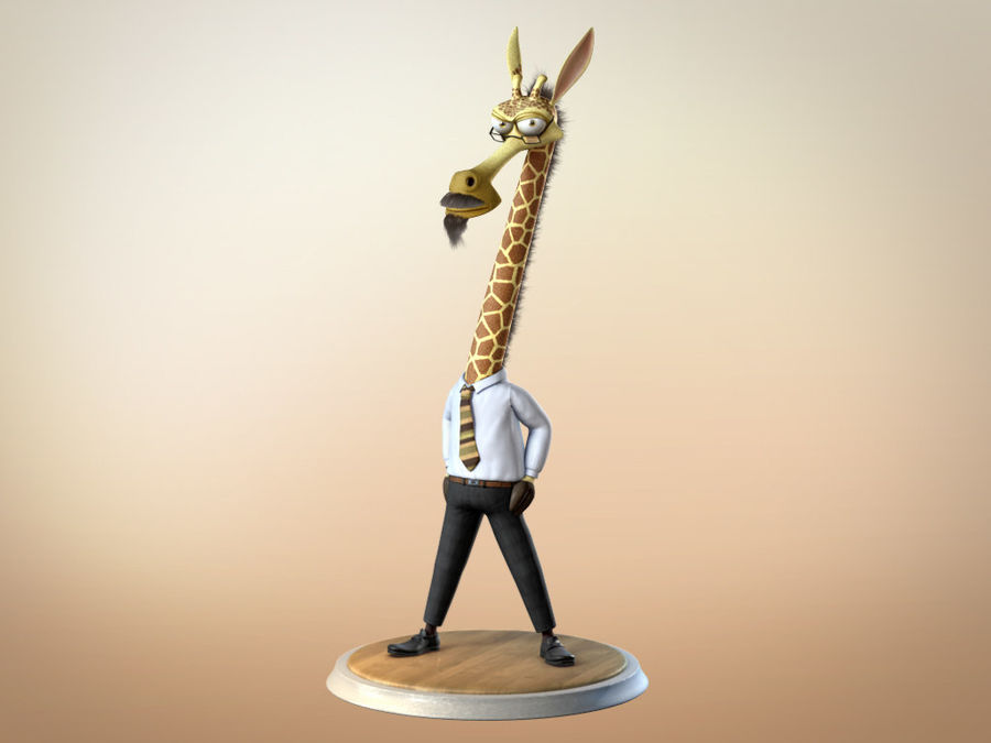 Maya Cartoon Character Giraffe royalty-free 3d model - Preview no. 9
