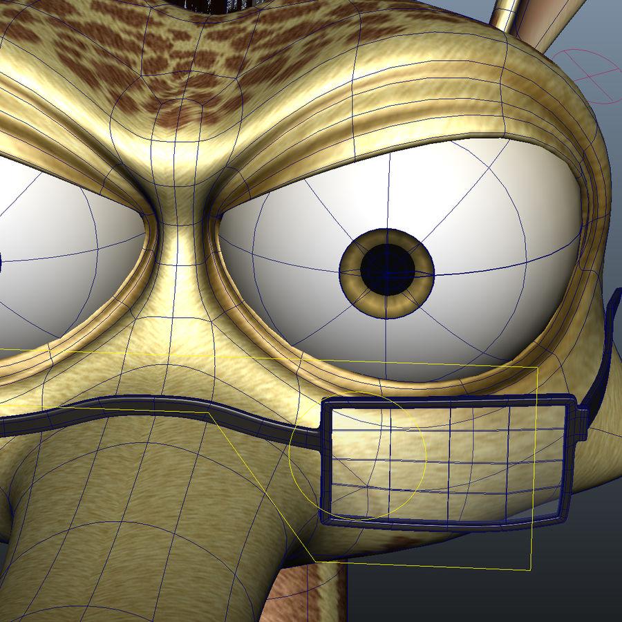 Maya Cartoon Character Giraffe royalty-free 3d model - Preview no. 10