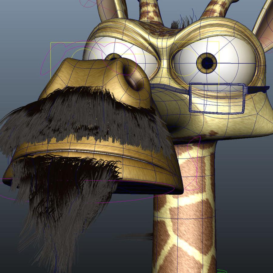玛雅人卡通人物长颈鹿 royalty-free 3d model - Preview no. 12