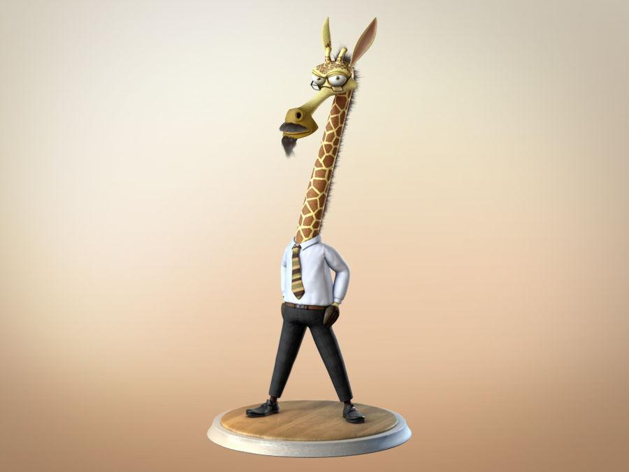 玛雅人卡通人物长颈鹿 royalty-free 3d model - Preview no. 9