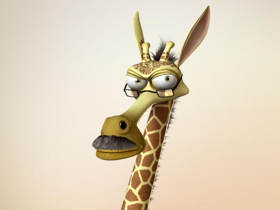 Maya Cartoon Character Giraffe royalty-free 3d model - Preview no. 5