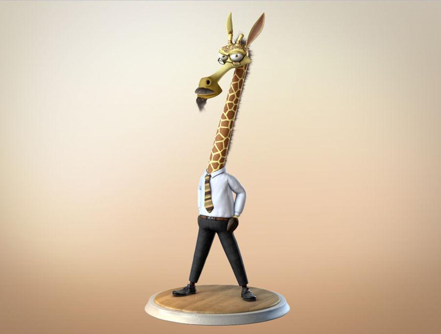 玛雅人卡通人物长颈鹿 royalty-free 3d model - Preview no. 3