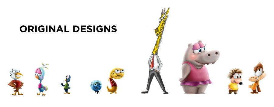 Maya Cartoon Character Giraffe royalty-free 3d model - Preview no. 1