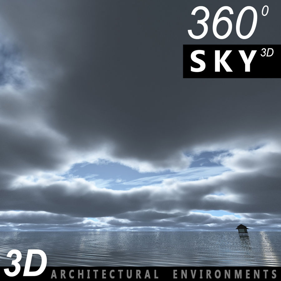 Sky 3D Clouded 012 royalty-free 3d model - Preview no. 1