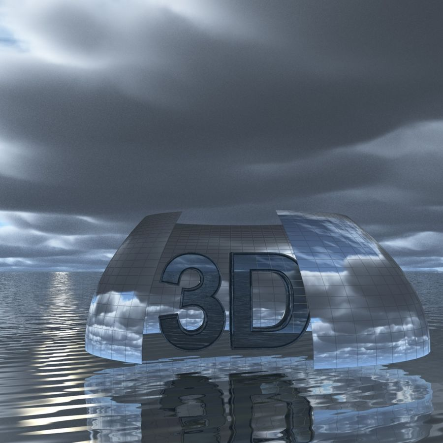 Sky 3D Clouded 012 royalty-free 3d model - Preview no. 4