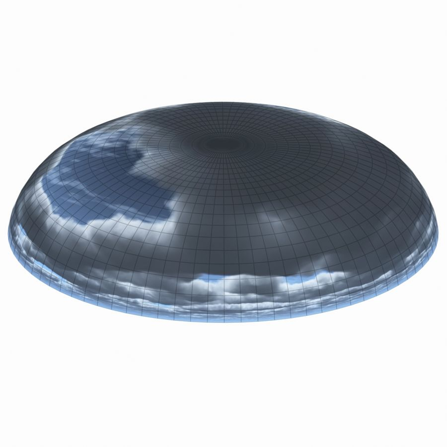 Sky 3D Clouded 012 royalty-free 3d model - Preview no. 8