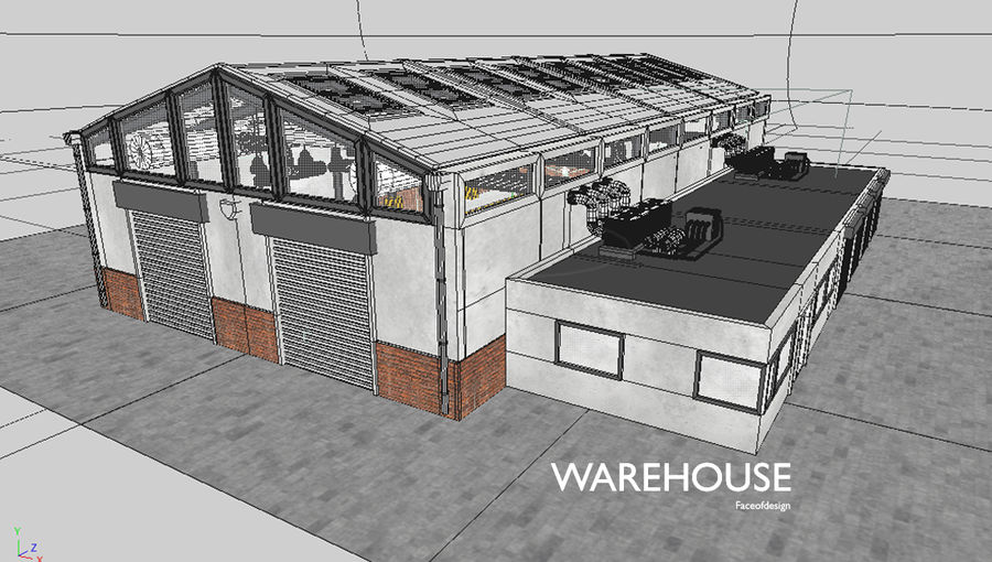 Warehouse royalty-free 3d model - Preview no. 9