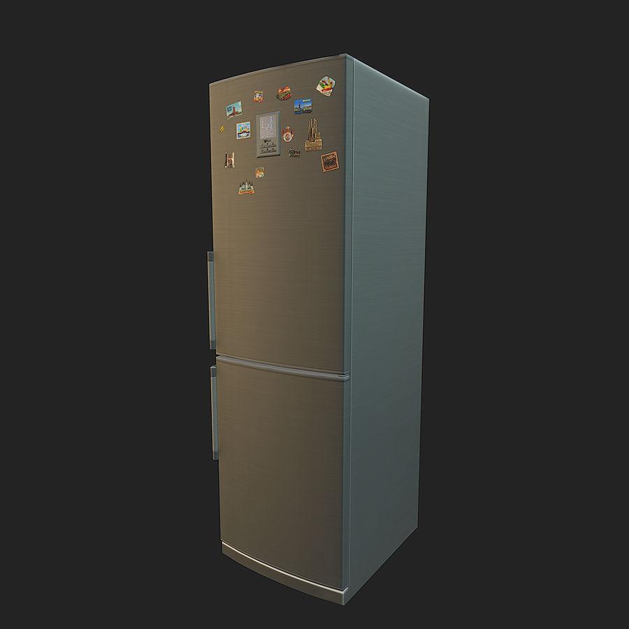 冷蔵庫のゲーム準備 royalty-free 3d model - Preview no. 12