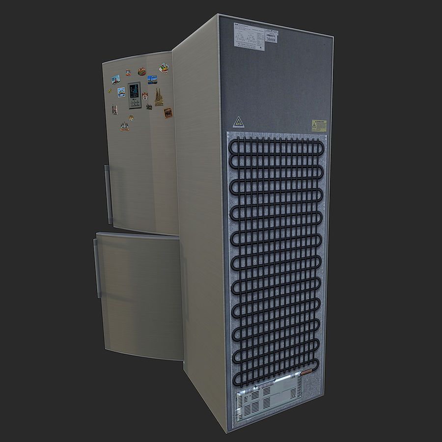 冷蔵庫のゲーム準備 royalty-free 3d model - Preview no. 5