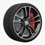 Aston Martin DBS Carbon Black Edition wheel 3d model
